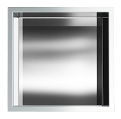 12 inch x 12 inch Stainless Shower Niche In Polished Chrome