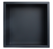 12 inch x 12 inch Stainless Shower Niche In Matte Black