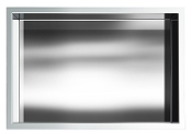 12 inch x 18 inch Stainless Shower Niche In Polished Chrome
