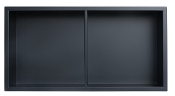 12 inch x 24 inch SS Niche with Central Shelf in Matte Black