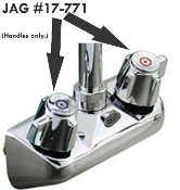 Metal Handles, Pair, for JAG Commercial Faucets