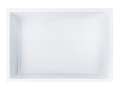 12 in. x 18 in. Stainless Steel Shower Niche in White