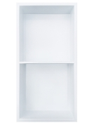 12 in. x 24 in. Stainless Shower Niche with Middle Shelf -White