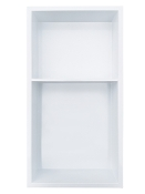 12 in. x 24 in. Stainless Shower Niche with 40/60 Shelf - White